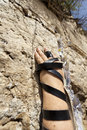 Phylacteries Wrapped Hand On The Western Wall Stock Image - 29803041