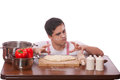 Sad Man Try To Cooking. Stock Photos - 29805573