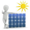 3d Small People - Solar Panel. Stock Photos - 29813513