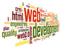 Web Development Concept In Word Tag Cloud Royalty Free Stock Images - 29826489
