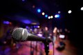 Horizontal Microphone On Music Stage Royalty Free Stock Photography - 29827877