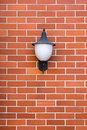 White Lamp Red Brick Wall Stock Photography - 29839462
