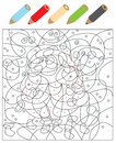 Color The Dots Visual Game Royalty Free Stock Photos - 29841848