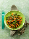 Green Beans With Carrots Royalty Free Stock Photography - 29846337