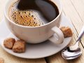Cup Of Coffee With Brown Sugar. Royalty Free Stock Image - 29855966