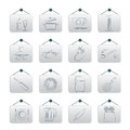 Kitchen Objects And Accessories Icons Royalty Free Stock Photography - 29859337