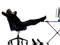 Business Woman Resting Pause Silhouette Royalty Free Stock Photo - 29860485