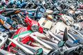 Great Number Of Motorbikes On Parking Zone. Stock Image - 29865581