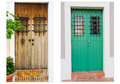 Collage Of Two Doors In Old San Juan, Puerto Rico Stock Images - 29870904