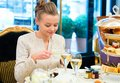 Young Lady At High Tea Ceremony Stock Photography - 29881782