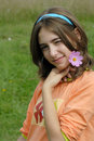 Girl With Flower Stock Images - 2992204
