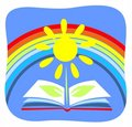 Book And Rainbow Stock Image - 2993781