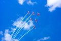 Formation Flying - RAAF Roulettes Royalty Free Stock Photo - 29904035