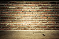 Vintage Brick Wall With Wooden Floor Texture Stock Images - 29907004