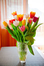 Bouquet Of Tulips In A Vase Royalty Free Stock Image - 29919316