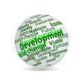 Sustainable Development Word Cloud 3D Terms Sphere Stock Photography - 29922772