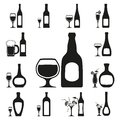 Glass And Bottle Set Stock Images - 29928824