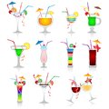 Set Of Cocktails On White Background Royalty Free Stock Images - 29928829