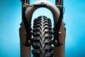 Bicycle Wheel With Suspension Fork And Brakes Royalty Free Stock Image - 29932056