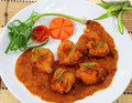 Fried Prawn Balls In Red Curry. Royalty Free Stock Photos - 29933148