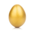 Golden Egg Isolated Royalty Free Stock Photo - 29941545