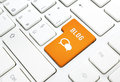 Blog Business Concept, Text And Icon. Orange Button Or Key On White Keyboard Royalty Free Stock Image - 29943066