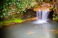 Waterfall Spilling Into Pond Stock Photo - 29944480