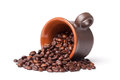 Coffe Beans And Cup Stock Photos - 29949283