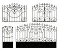 Forged Gate, Wicket And Fence Stock Images - 29969554