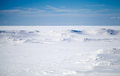 Deep Blue Sky And Snow On Frozen Baltic Sea Stock Images - 29977214