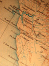Antique Map Centered On Califo Stock Photo - 3004970