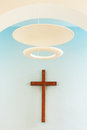 Wooden Cross With Nimbus Royalty Free Stock Photography - 30001767