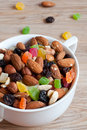 Nuts, Raisins And Candied Fruit Stock Photo - 30009710