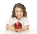 Girl With Red Apple Stock Image - 30015231