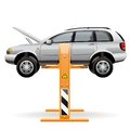 Repair Car On A Lift Royalty Free Stock Photos - 30019588