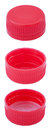 Isolated Red Plastic Bottle Caps Stock Image - 30020551
