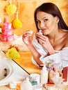 Woman Relaxing At Home Bath. Royalty Free Stock Photos - 30021398