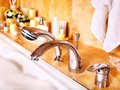 Bathroom Interior With Bubble Bath. Royalty Free Stock Image - 30021426