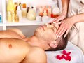 Man Getting  Facial Massage . Stock Photo - 30021450