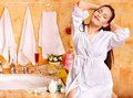 Woman Relaxing At Home Bath. Royalty Free Stock Photography - 30021467