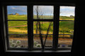 View From Window Rural Area Royalty Free Stock Photo - 30026355