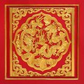 Wood Carved On Red Door Royalty Free Stock Photography - 30032157