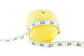 Pear Measured The Meter, Weight Loss Concept Royalty Free Stock Images - 30036969