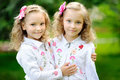 Portrait Of Two Sisters Twins Stock Photos - 30037413