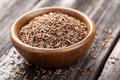 Cumin In A Wooden Plate Stock Photos - 30040683