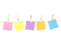 Sticky Notes On A Clothes Line Royalty Free Stock Image - 30047536