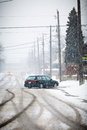 Snow-covered Road Stock Image - 30048751