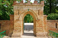 Brick Gate To An Old Castle Stock Images - 30048914
