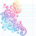 Flowers Sketchy Back To School Doodle Vector Illus Stock Photo - 30049210