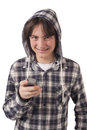 Teenage Boy Talking On Mobile Phone Royalty Free Stock Images - 30058179